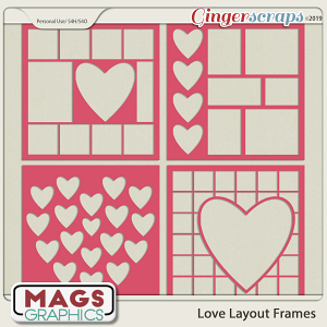 12x12 Love Layout Frame Templates by MagsGraphics