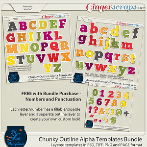 Chunky Outline Alpha Template Bundle by Miss Fish