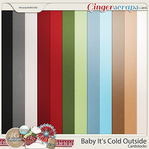 Baby It's Cold Outside Cardstocks by JoCee Designs