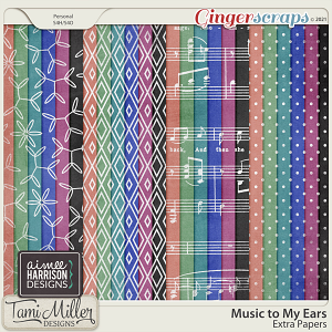 Music to My Ears Extra Papers by Tami Miller and Aimee Harrison