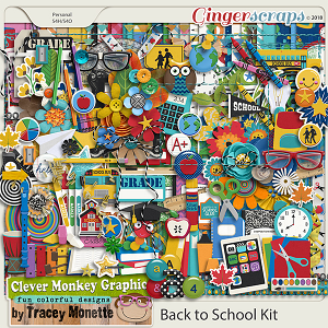 Back to School Kit by Clever Monkey Graphics