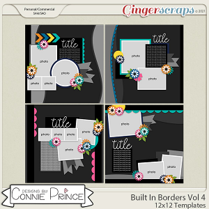 Built In Borders Volume 4  - 12x12 Temps (CU Ok) by Connie Prince