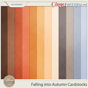 Falling into Autumn Cardstocks by JoCee Designs