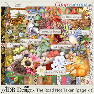 The Road Not Taken Page Kit by ADB Designs
