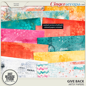 Give Back Artsy Papers by JB Studio