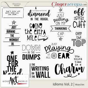 Idioms Vol. 2 Word Art