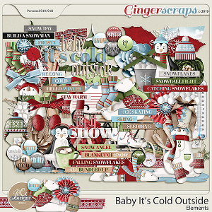 Baby It's Cold Outside Elements by JoCee Designs
