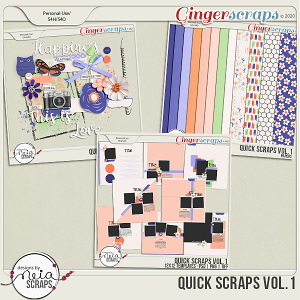 Quick Scraps VOL.1 Templates & Mini Kit -by Neia Scraps