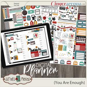 You Are Enough Planner Pieces - Scraps N Pieces