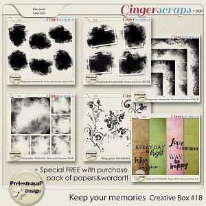 Keep your memories Creative Box #18