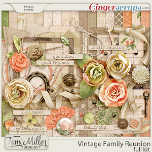 Vintage Family Reunion Full Kit by Tami Miller Designs