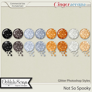 Not So Spooky Glitter CU Photoshop Styles