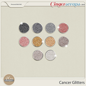 Cancer Glitters by JoCee Designs