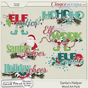 Retiring Soon - Santa's Helper - Word Art