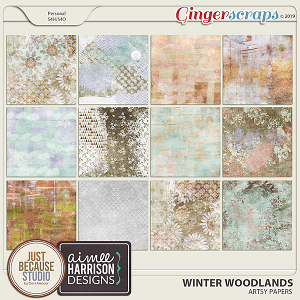 Winter Woodlands Artsy Papers by JB Studio & Aimee Harrison Designs