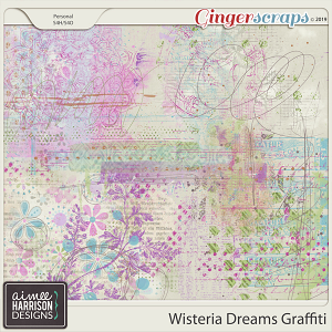 Wisteria Dreams Graffiti by Aimee Harrison