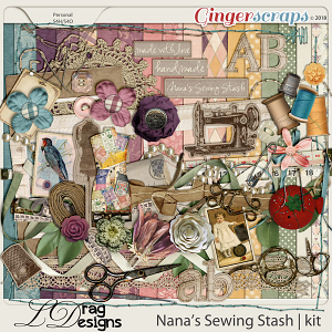 Nanas Sewing Stash by LDragDesigns
