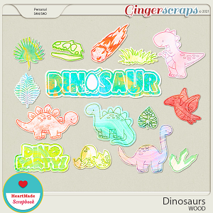 Dinosaurs - wood