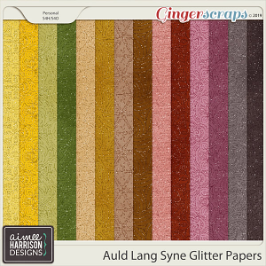 Auld Lang Syne Glitter Papers by Aimee Harrison