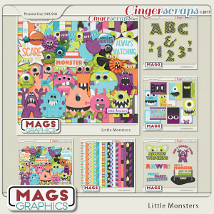Little Monsters BUNDLE + BONUS CLUSTERS by MagsGraphics