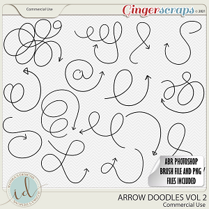 CU Arrow Doodles Vol 2 by Ilonka's Designs