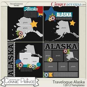 Travelogue Alaska - 12x12 Temps (CU Ok) by Connie Prince