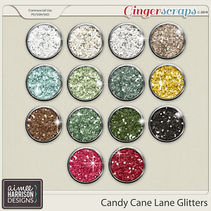 Candy Cane Lane Glitters by Aimee Harrison
