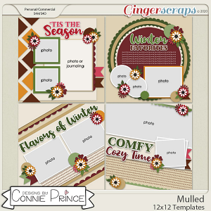 Mulled - 12x12 Templates (CU Ok) by Connie Prince