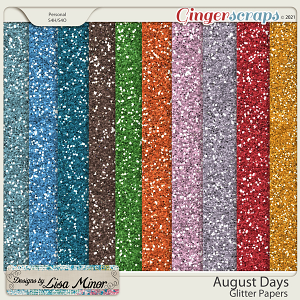 August Days Glitter Papers from Designs by Lisa Minor
