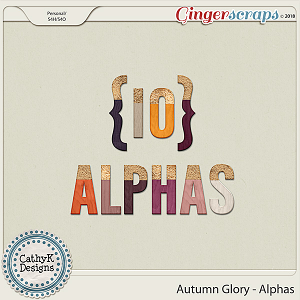 Autumn Glory - Alphas by CathyK Designs