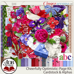 Cheerfully Optimistic Page Kit PLUS by ADB Designs