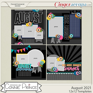 August 2021- 12x12 Temps (CU Ok) by Connie Prince