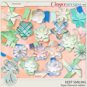 Keep Smiling Paper Elements Addon by Ilonka's Designs