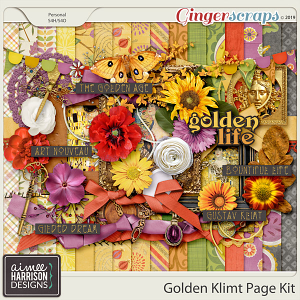 Golden Klimt Page Kit by Aimee Harrison