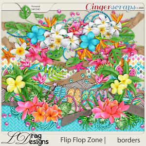 Flip Flop Zone: Borders by LDragDesigns