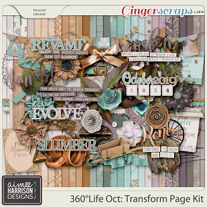 360°Life Oct: Transform Page Kit by Aimee Harrison