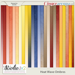Heat Wave Ombre Paper Pack