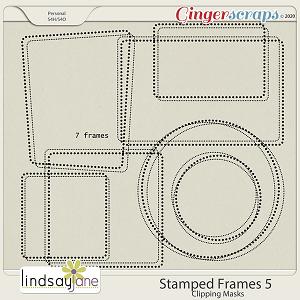Stamped Frames 5 by Lindsay Jane