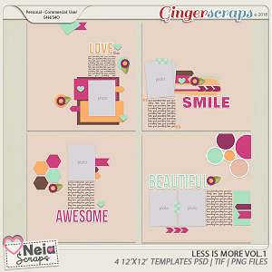Less is More - Templates VOL.1 - By Neia Scraps