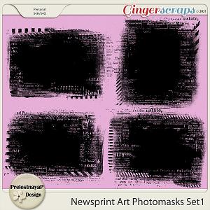 Newsprint Art Photomasks Set1