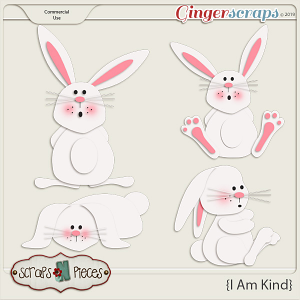 I Am Kind Bunnies CU Layered Templates - Scraps N Pieces
