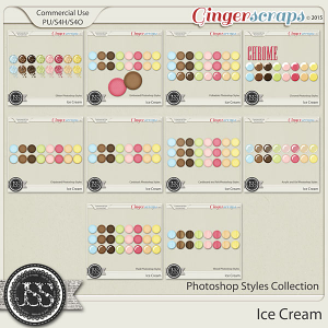 Ice Cream CU Photoshop Styles Bundle