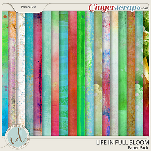 Life In Full Bloom Paper Pack by Ilonka's Designs