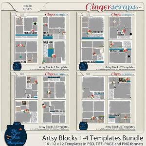 Artsy Blocks Template Bundle by Miss Fish