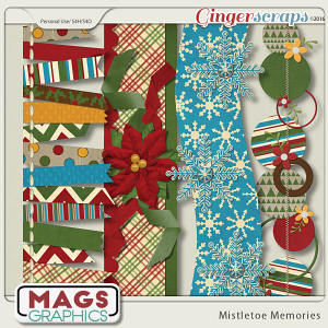 Mistletoe Memories BORDERS by MagsGraphics