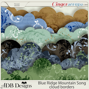 Blue Ridge Mountain Song Cloud Borders by ADB Designs
