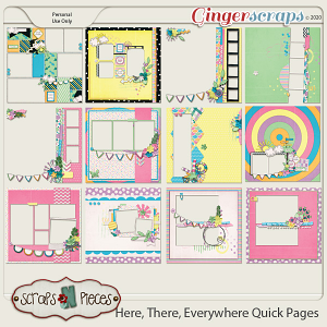 Here, There, Everywhere Quick Pages by Scraps N Pieces