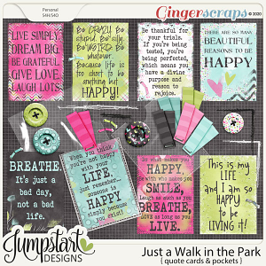 Just a Walk in the Park {Quote Cards} Jumpstart Designs