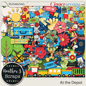 At the Depot KIT by Heather Z Scraps