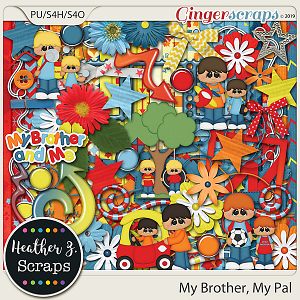 My Brother, My Pal KIT by Heather Z Scraps